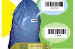 Sacchi rifiuti con codice a barre