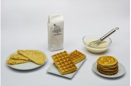 Mix in polvere universale per waffel, crêpes e pancakes
