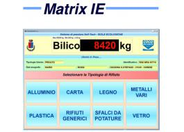 Software di pesatura per isole ecologiche Matrix IE