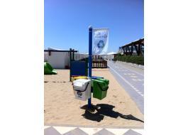 Contenitori portarifiuti in polietilene per la spiaggia Il Punto