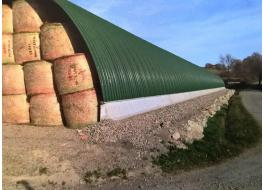 Hangar for hay storage