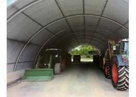 Hangar for shelter agricultural tools