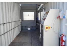 Impianto di cremazione su container