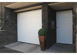 Portone garage in acciaio apertura verticale Mod. LPU 40