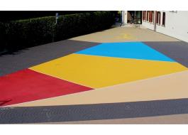Asfalto stampato colorato