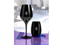 Bicchieri in vetro sonoro neri Black Moon