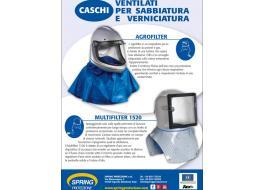 Caschi ventilati protettivi per sabbiatura e verniciatura
