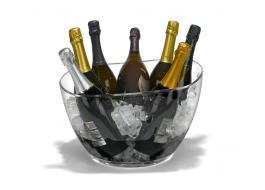 Игристое вино в прозрачного акрила Eclisse Bowl