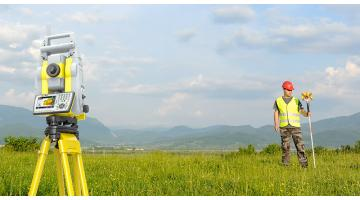 Total stations for topographic surveys