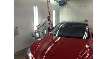 Impianto aereo UV per essiccazione vernici