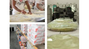 Produzione basi precotte per pizze