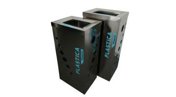 Contenitori per raccolta differenziata urbana in metallo