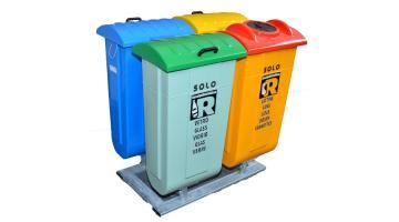 Isola ecologica per raccolta rifiuti con contenitori da 90 litri