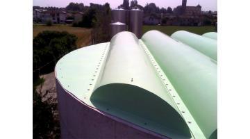 Coperture vasche circolari impianti di depurazione
