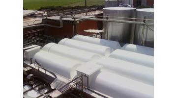 Coperture vasche rettangolari impianti di depurazione