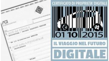 Gestionale per certificato di proprietà digitale Aci