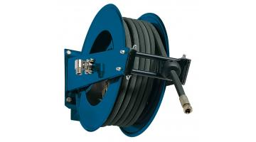 Hose reel in painted steel spring