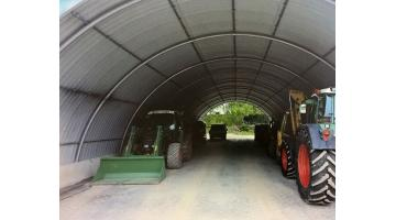 Hangar storage agricultural machinery