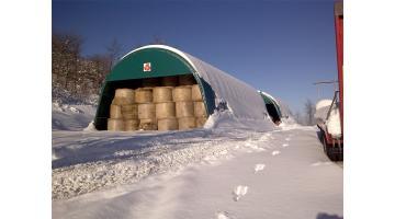 Tunnel di copertura per foraggio