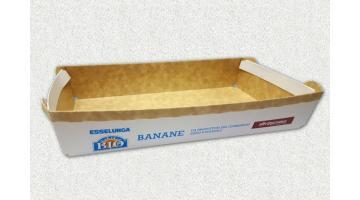 Cardboard baskets for bananas transport