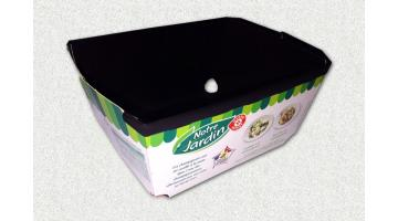 Board containers for chicken and hot dishes