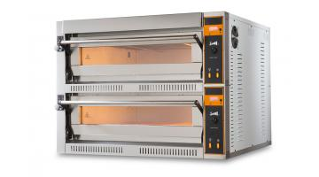 Electric oven for pizzeria and rotisserie