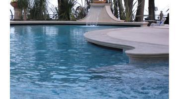 Marble floored hotel pool