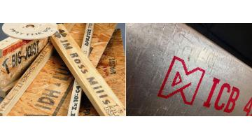Marking on wood and metal