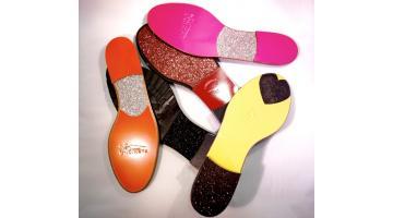 Suole con inserti glitter per ballerine donna