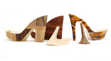 Heels and wedge bandage for footwear