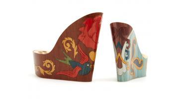 Inlaid footwear for footwear