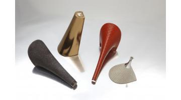 Produzione tacchi fasciati per calzature donna