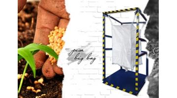 Big bag weighing platform for agro-food