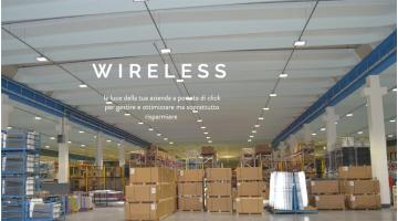 Corpi illuminanti a LED wireless per uso industriale