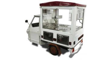 Ape Piaggio allestito gelateria e street food