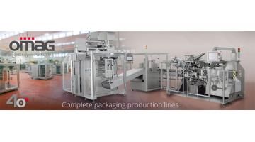 Omag, linee complete per packaging farmaceutico