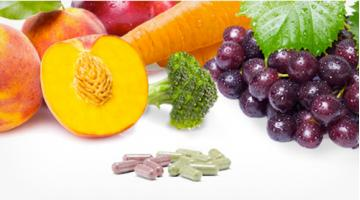 Integratori in capsule di frutta e verdura