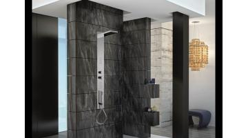 Concealed shower column with thermostatic mixer