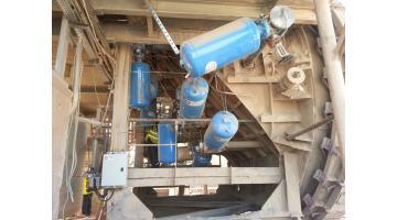 Impianto cannoni aria compressa