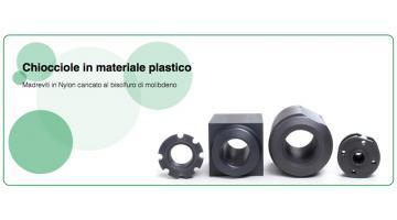 Produzione chiocciole in materiale plastico