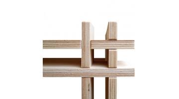 Produzione espositori in legno ad incastro
