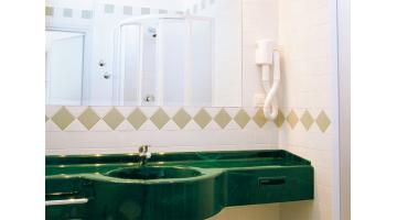 Marble resin facing slabs for bathrooms