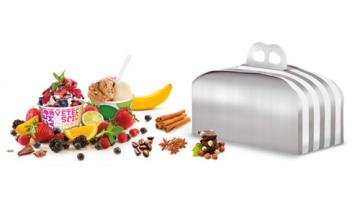 Cups and containers for ice cream and pastry