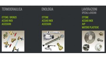 Rubinetti e accessori per enologia e termoidraulica