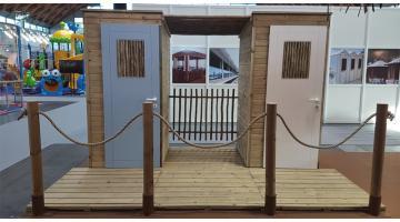 Cabina in legno per stabilimenti balneari