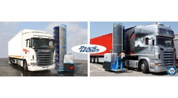 Impianti mobili monospazzola per camion