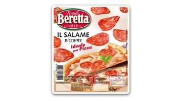 Salame piccante per pizza confezionato