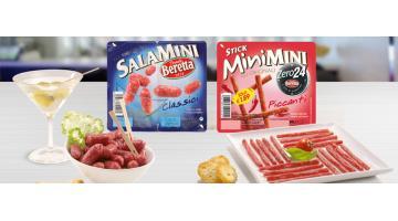 Salumi per snack e apertivi confezionati