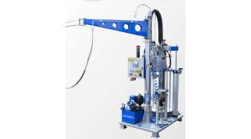 Hydraulic vitrification extruder
