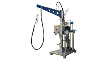 Pneumatic vitrification extruder